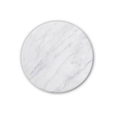 Επιφάνεια Μάρμαρο Στρογγυλή Άσπρο