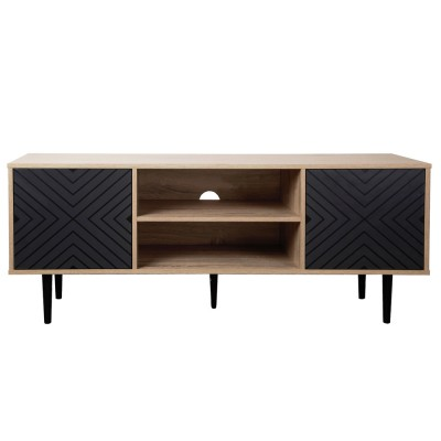 ARROW TV STAND 140x40x56Ycm SONOMA/ΜΑΥΡΟ