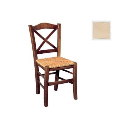 METRO Καρέκλα Άβαφη με Ψάθα Αβίδωτη