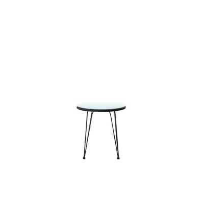 SALSA Τραπέζι Φ52cm Μεταλ.Μαύρο/Wicker Γκρι