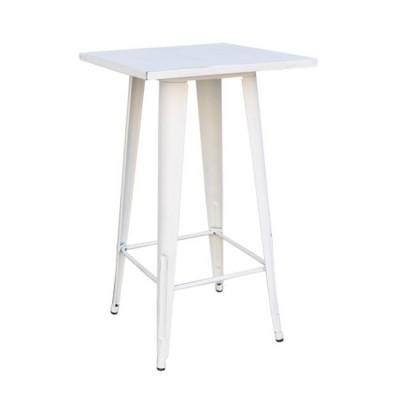 RELIX Τραπέζι BAR 60x60 Μεταλ.Antique White