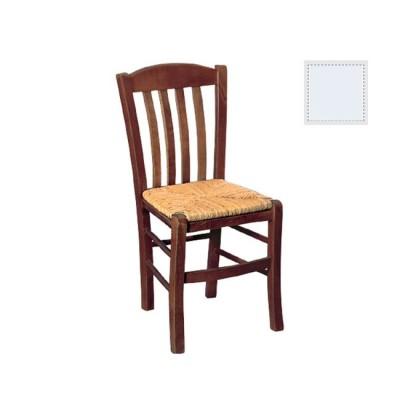 CASA Καρέκλα Ψάθα Εμποτ.Λάκα Λευκή