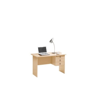SIGNAL Γραφείο με 3 Συρτάρια Απόχρωση Sonoma