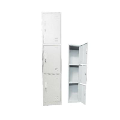 LOCKER 3 θεσ.Μεταλλικό 38x45x185cm Λευκό