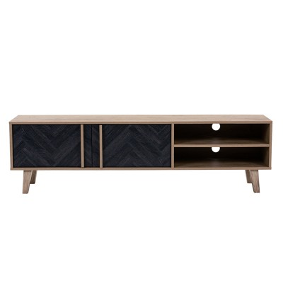 ALBERO TV STAND SONOMA DECAPE ΜΑΥΡΟ ΜΕ PATTERN 160x35xH45cm
