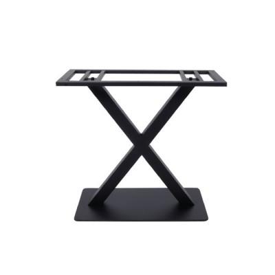 FERRO Βάση 70x40cm Steel Μακρόστενη H72cm Μαύρη