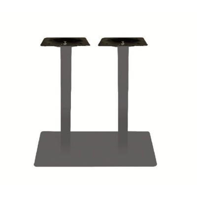 PRATO Βάση 70x40cm Steel Μακρόστενη H72cm Γκρι