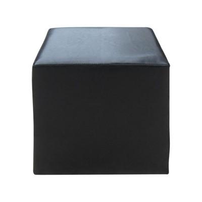 CLUB Σκαμπώ PU Μαύρο 37x37x42cm