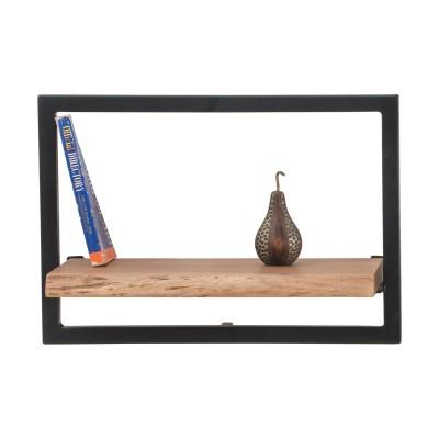 LIZARD Frame Ράφι 50x25x35cm Ακακία Φυσικό/Μετ.Μαύρο