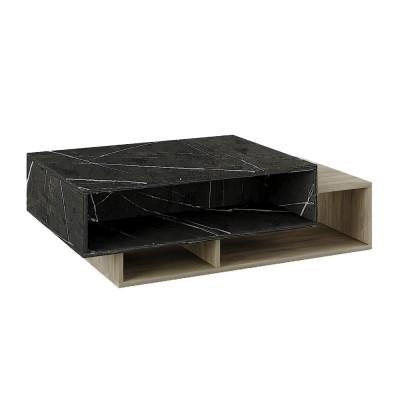 PETRA COFFEE TABLE ΠΕΤΡΑ SONOMA ΣΚΟΥΡΟ 105x60xH40cm