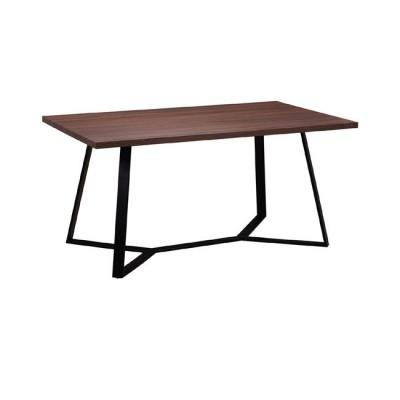 HANSON Τραπέζι 160x90cm Σκ.Καρυδί/Βαφή Μαύρη