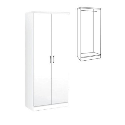 LIFE Ντουλάπα 80x42x180 Λευκό