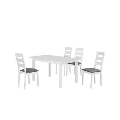 MILLER Set (Τρ.120+30x80cm+4 Καρ) Άσπρο