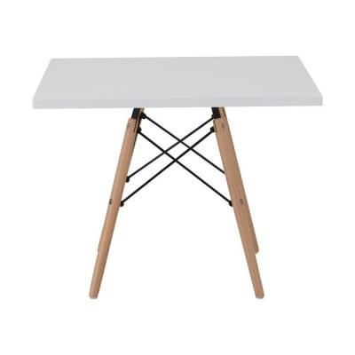ART Wood Kid Τραπέζι 60x60/H50cm Λευκό