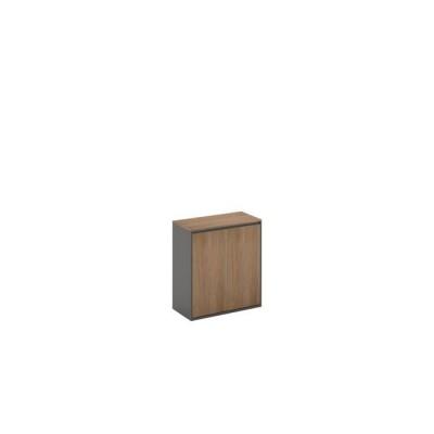 PROLINE Ντουλάπι Χαμηλό 80x40x75cm Σκ.Καρυδί/Μαύρο