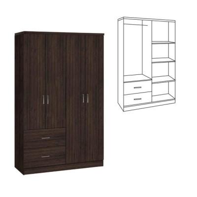 LIFE Ντουλάπα 4-πόρτες 119x42x180 Wenge