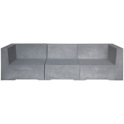 CONCRETE 3Θέσιος Καναπές Cement Grey
