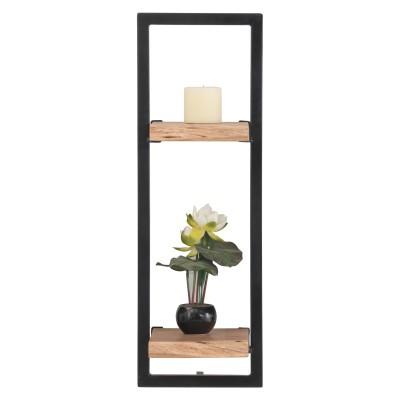 LIZARD Frame Ράφι 25x25x75cm Ακακία Φυσικό/Μετ.Μαύρο