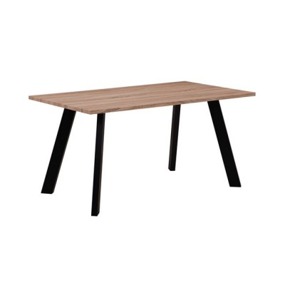 BAXTER Τραπέζι 120x70cm Sonoma/Βαφή Μαύρη
