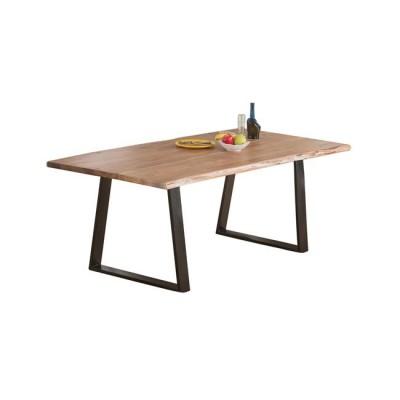 LIZARD Slim Τραπέζι 160x90x75cm Ακακία Φυσικό/Μεταλ.Μαύρο