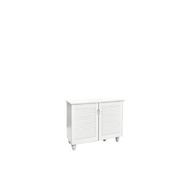 Παπουτσοθήκη 2-Πόρτες 77x34x68cm Άσπρη