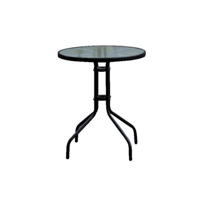 BALENO Τραπέζι Φ60cm Μεταλλικό Μαύρο