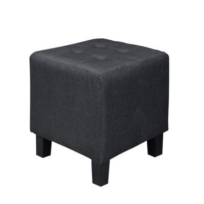 MEDEA Σκαμπώ Ύφασμα Μαύρο 37x37x42cm