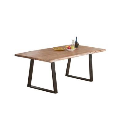 LIZARD Slim Τραπέζι 200x95x75cm Ακακία Φυσικό/Μεταλ.Μαύρο