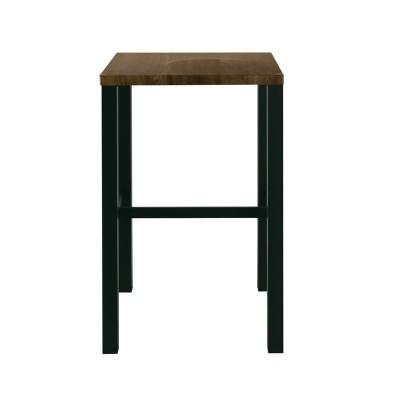 MAYER Τραπέζι BAR 60x60cm Μεταλ.Ανθρακί/Antique Brown