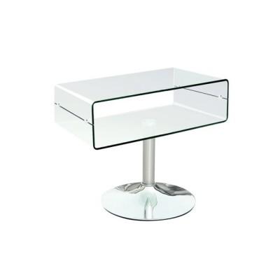 GLASSER Clear έπιπλο TV 60x38x46 γυαλί 12mm/Χρώμιο