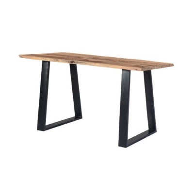 LIZARD Slim Τραπέζι 140x80x75cm Ακακία Φυσικό/Μεταλ.Μαύρο