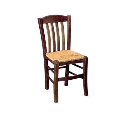 CASA Καρέκλα Ψάθα Εμποτ.Καρυδί