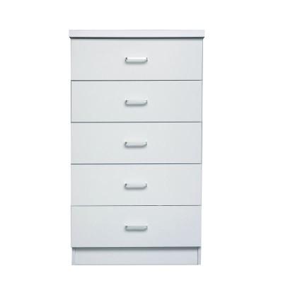 DRAWER Συρταριέρα 5-Συρτ.60x40x97cm Άσπρη