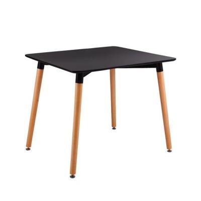 ART Τραπέζι 80x80cm Μαύρο