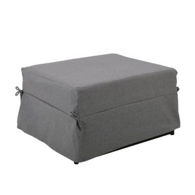 LOGAN Σκαμπό - Κρεβάτι Σαλονιού - Καθιστικού, Στρώμα 7cm, Ύφασμα Γκρι