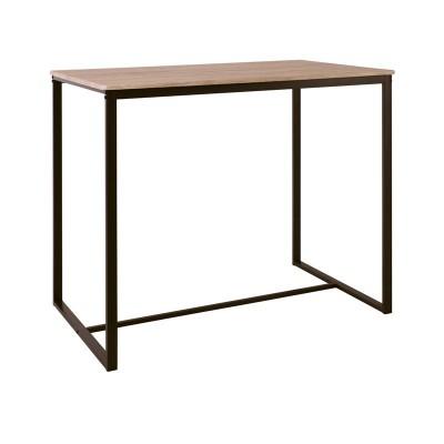 HENRY Τραπέζι BAR 100x60cm Μεταλ.Σκ.Καφέ/Sonoma