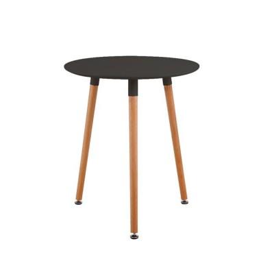 ART Τραπέζι Φ60/H68cm Μαύρο