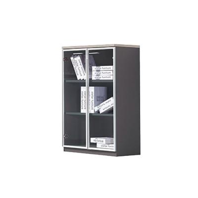 PROGRESS Ντουλάπι 80x40x120cm Elm/Grey (Γυάλ.Πόρτες)