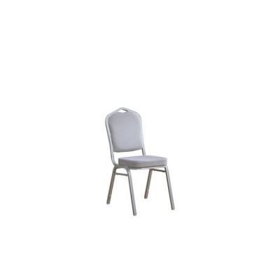 HILTON Καρέκλα Μεταλλική Silver Ύφασμα Γκρι