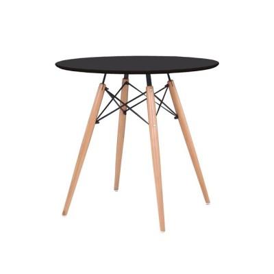 ART Wood Τραπέζι Φ80/H74cm Μαύρο