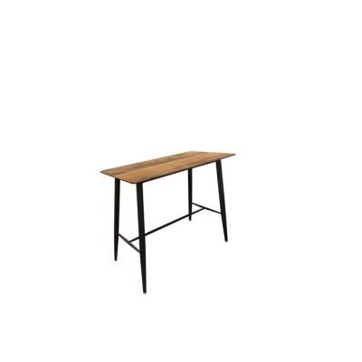 LAVIDA Τραπέζι BAR 120x60 Antique Oak, Μεταλ.Μαύρο