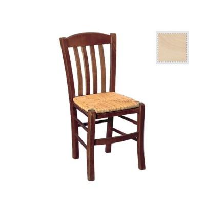 CASA Καρέκλα Άβαφη με Ψάθα Αβίδωτη