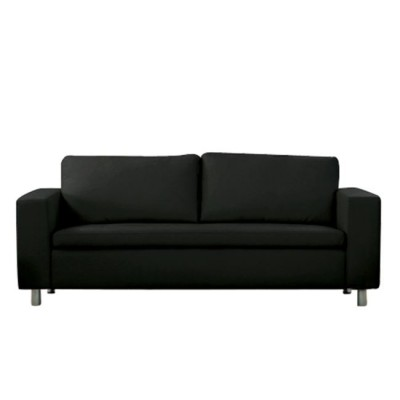 ALAMO Καναπές 3θέσ.PU Μαύρο 199x85x82cm