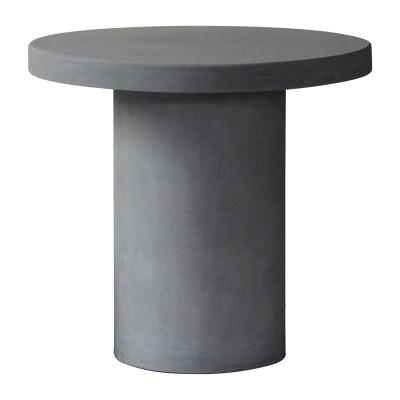 CONCRETE Cylinder Τραπέζι D.80cm Cement Grey