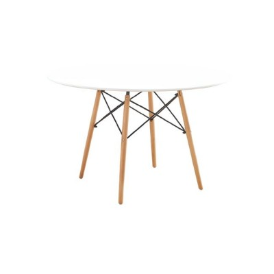 ART Wood Τραπέζι Φ120/H74cm Λευκό