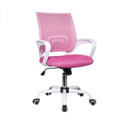 BF2101-S Πολυθρόνα Άσπρη/Ροζ Mesh