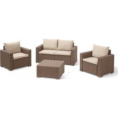 σετ σαλόνι εξωτερικού χώρου alb california lounge set cappuccino