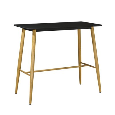 LAVIDA Τραπέζι BAR 120x60 Μαύρο, Μεταλ.Φυσικό