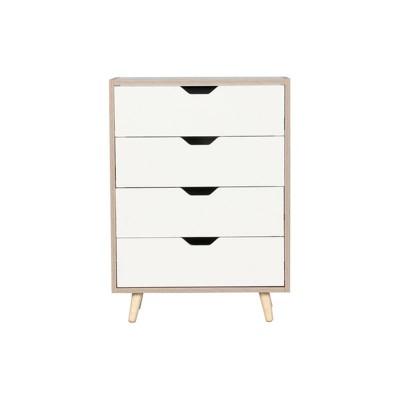 ALINA Συρταριέρα 4-Σ 56x29x77cm Sonoma/Άσπρη