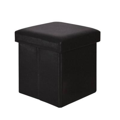 ORION Αποθ/κό Σκαμπώ PU Μαύρο 38x38x38cm